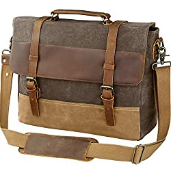 8edc57d34336 One of the features that stands out the most with this messenger bag is  that it s made using waxed canvas. This means that it s not only  water-resistant but ...