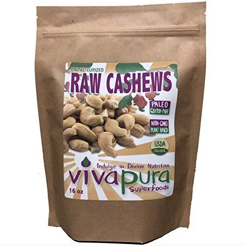 Vivapura, Raw, Organic, Cashews,16 oz, Compostable Bag