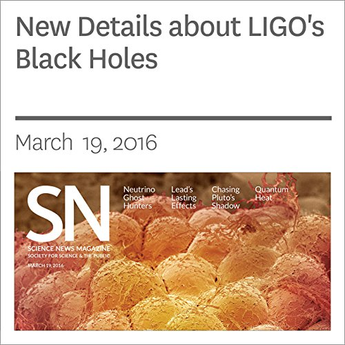 New Details about LIGO's Black Holes audiobook cover art