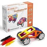 Maguplay Magnetische Bausteine, Magnetspielzeug für Kinder ab 3 Jahre, Lernspielzeug, Funcruiser, 32 Teile XXL