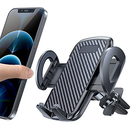 CTYBB Car Phone Holder Mount, Universal Smartphone Car Air Vent Mount Cradle, Hands Free Clip Phone Holder for Car Compatible with iPhone 12 11 Pro Max Samsung Galaxy Note S21 and All Phones