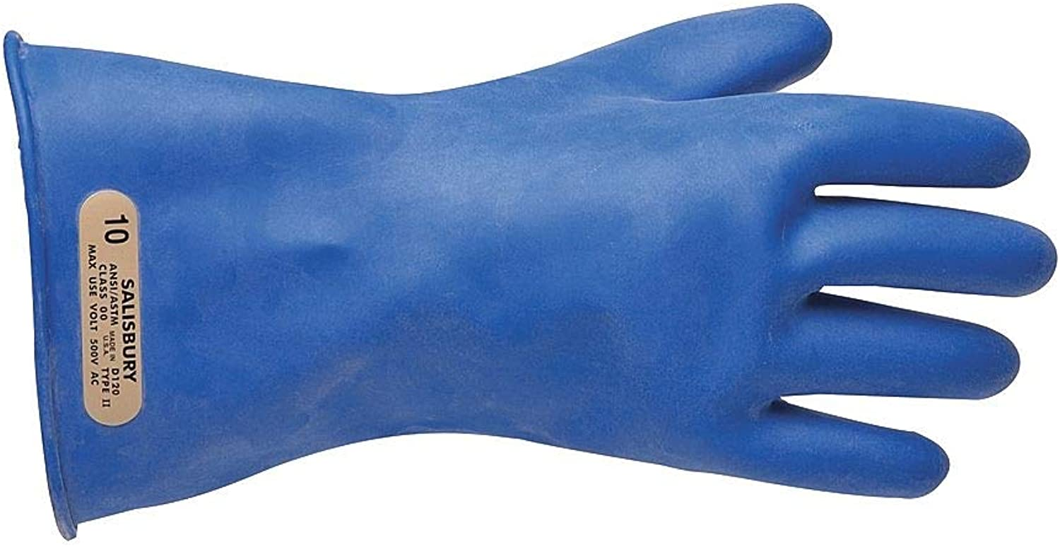 Salisbury Blue Electrical Gloves Rubber 00 Size 11 - Class E0 Limited Special Price low-pricing