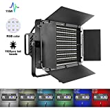 GVM 110W RGB Video Lights, Professional Dimmable Multicolor Video Lighting Kit 40000lux@0.5m 2000-5600K LED Light Panel for YouTube Studio Photography, Video Shooting Lighting, with Barn-Door