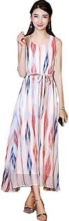 SHENGAO レディース ファッション ロング スカート 春夏 秋 カジュアル 素晴らしい 花柄 ワンピース 半袖 ひざ丈 きれいめ