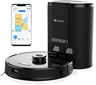 Proscenic M8 PRO ロボット掃除機 自動ゴミ収集 吸引と水拭き両用 アプリ制御/Alexa対応 自動充電 SLAMレーザー搭載 複数マップ保存機能