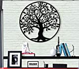 DEKADRON Metal Wall Art - Tree of Life - Family Tree - 3D Wall Silhouette Metal Wall Decor Home Office Decoration Bedroom Living Room Decor Sculpture (23' W x 24' H/58x61cm)