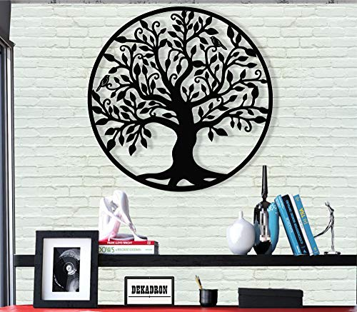 Metal Wall Art - Tree of Life - Family Tree Metal Wall Decor Home Office Decoration Bedroom Living Room Décor (17' W x 18' H/44x46cm)