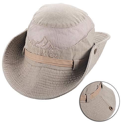 KISSBELLY Sonnenhut Herren Damen UV Schutz Wanderhut mit Atmungsaktivem Netz, Sommerhut für Outdoor Angeln Wandern
