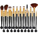 Simsly Shell - Juego de brochas de maquillaje para base de maquillaje, corrector de polvo, viajes, kit de brochas de maquillaje