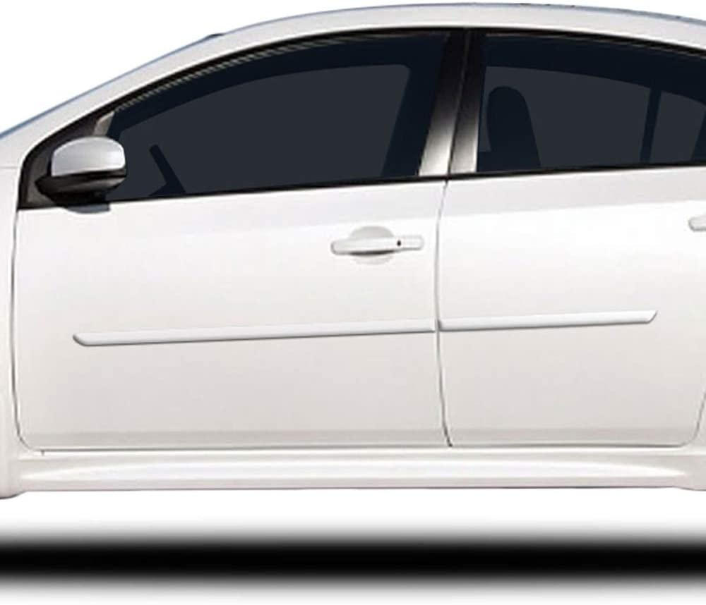 Dawn Enterprises FE7-SENTRA20 Custom Body Side Molding Compatible with Nissan Sentra Aspen White QAC