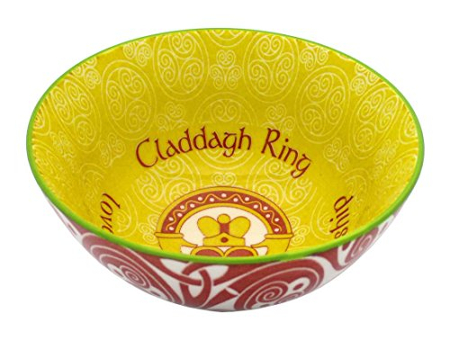 Irish Celtic Bowl With Claddagh Design 11cm