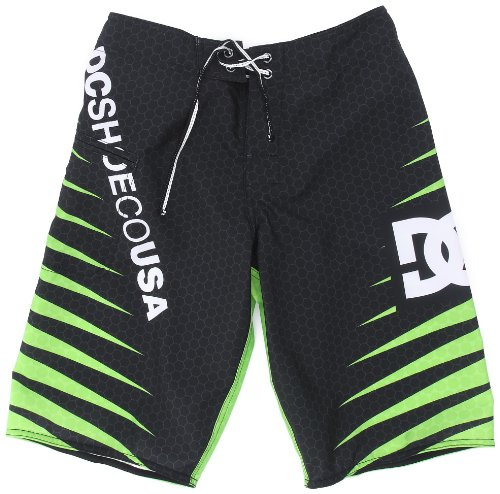 DC Shoes Jungen Boardshort Carnivore, Lime, 28, D071810076