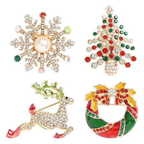 Broche Navidad  marca QIHOO