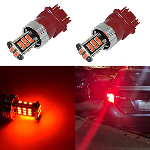 Alla Lighting Super Bright 3156 3157 Red LED Bulbs 1000 Lumens LED 3156 3157...