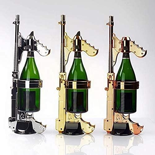LOXZJYG Blaster Champagne Gun, Tapón de Vino Champagne Dispensador de vinos Fountain Bottle Ejector de Cerveza Alimentación de Body Fiesta Night Club Bar Herramienta (Color : Latón)