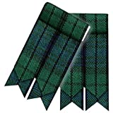 Highland Kilt Falda Escocesa Calcetines Bandas Varios Tartanes Hose Bandas Punta Afilada - Pride Of Escocia, 3' X6''
