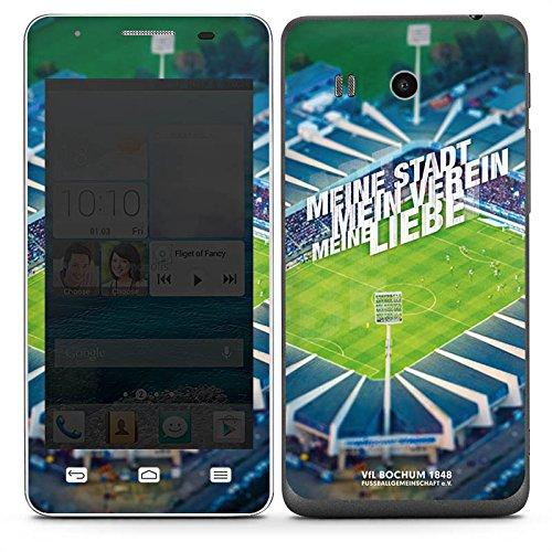 DeinDesign Huawei Ascend G525 Folie Skin Sticker aus Vinyl-Folie Aufkleber VFL Bochum Fanartikel Stadion