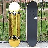 LFOZ Skateboard Patineta de Carretera Doble Base para Principiantes basculante Thrasher Cruiser OXELO SK PatinetaLFOZ (Color : C)