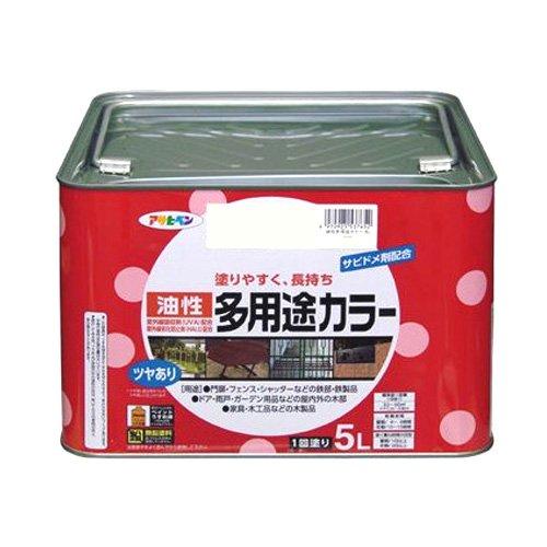 アサヒペン 油性多用途カラー 5L ライトグレー