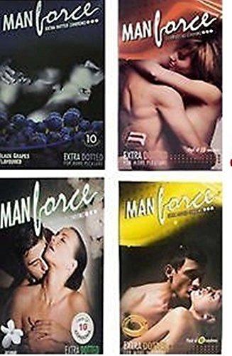 Manforce Assorted Condoms Pack - 4 flavors (Set of 10, 40 Pieces)