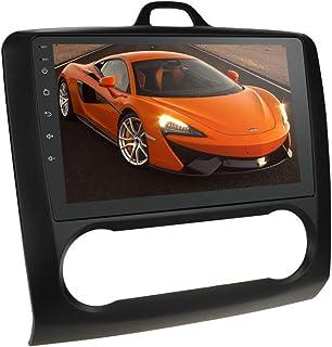Android 10 Auto GPS Navigation RAM 2 GB + ROM 32 GB Autoradio mit 9 Zoll Touchscreen Passend für Ford Focus Exi at 2004 2011 Unterstützung Bluetooth Spiegelverbindung SWC WiFi / 4G LTE (Schwarz)