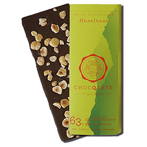 CHOCQLATE Virgin Cacao Bio Schokolade Haselnuss 75 g
