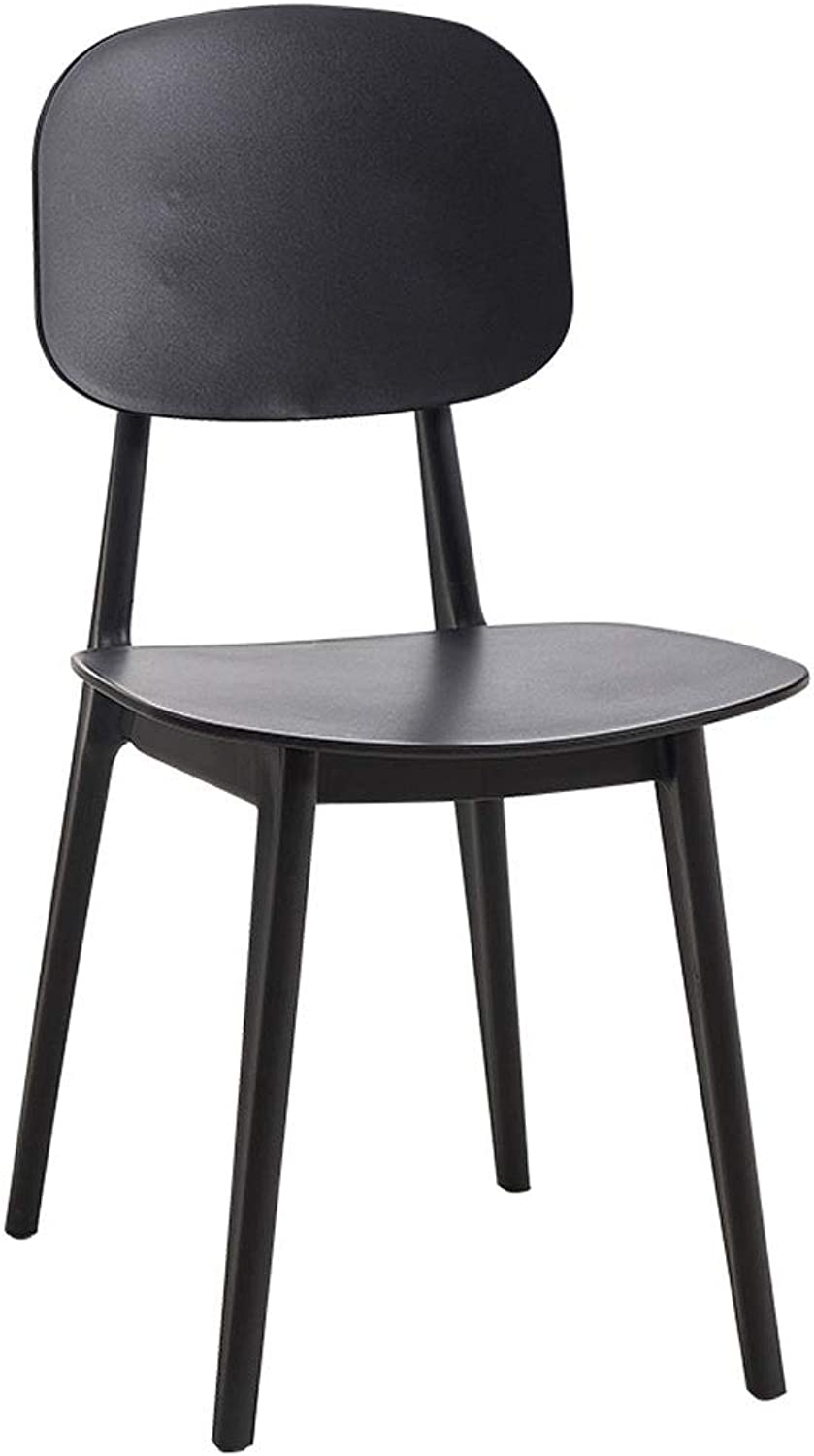 Nordic Creative Plastic Chair Casual Dining Chair Modern Minimalist Home Back Desk Chair Restaurant Coffee ins Chair (color   Black)