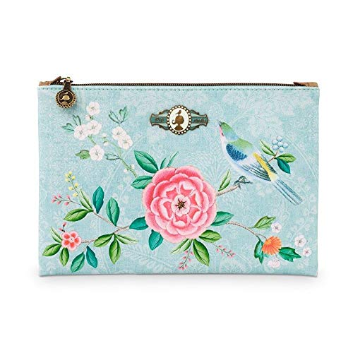 PiP Studio Cosmetic Flat Pouch Medium Floral Blue 24x15,5 cm