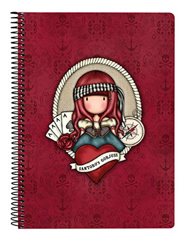 SANTORO Cuaderno 80 Hojas A5 de Gorjuss Mary Rose, Tapas Duras, 155x220mm