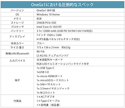 51kgzInO9EL-ゲーミングUMPC「OneGx1」の日本モデルがアマゾン等で予約販売開始!