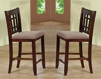 Crown Mark 2185 Empire Counter Height Chair Espresso 2 Per Box