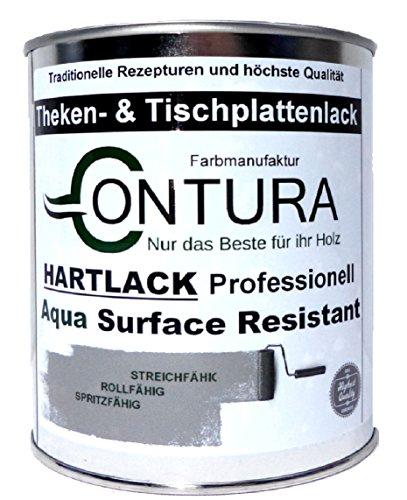 Hartlack Tischplattenlack Klarlack Universallack 750ml Lack Thekenlack Farblos Holz Tischplatten Parkett (Seidenmatt)