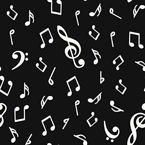 TEJIDOS FERRERO LONETA ESTAMPADA NOTAS MUSICALES