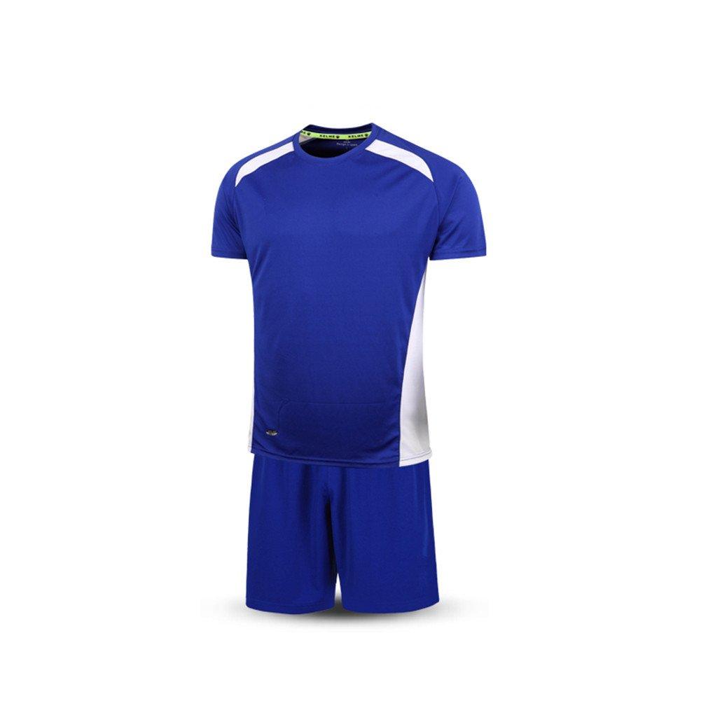 KELME Fútbol Traje Deporte Entrenamiento Equipo Manga Corta Camiseta Ropa para Hombres, Color Azul/Blanco, tamaño XXXL: Amazon.es: Deportes y aire libre