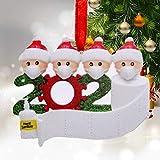 WELLXUNK Adornos Navidad Colgantes Muñeco Familia Sobrevivido Adornos de árbol...