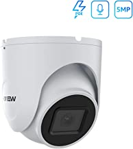 (Hikvision Compatible) 5MP PoE IP Dome Camera Outdoor with Audio, Microphone, H.VIEW Video Surveillance Super HD Night Vision 100ft Home Security, ONVIF Compaliant, Wide Angle 2.8mm