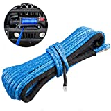 Eleven Guns Synthetic Winch Rope 3/16' x 50' 6800+LBS Winch Line Cable Rope with Protective Sheath Nylon Winch Rope for Winches SUV ATV UTV Vehicle Jeep Boat Ramsey Car