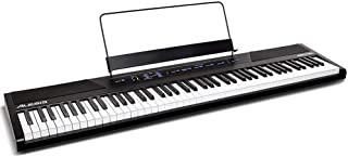 Alesis 電子ピアノ 88鍵盤 フルサイズ・セミウェイト鍵盤 初心者向け オンラインレッスンが受講可能 Recital ブラック
