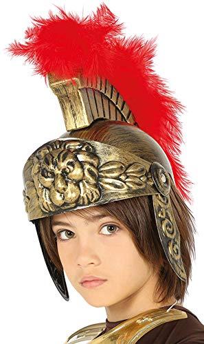 Guirca 13595 - Casco Romano Infantil Oro con Pluma
