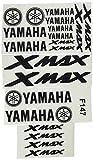 Ecoshirt HQ-X9YJ-K2QW Pegatinas Moto Xmax X MAX F1477 Stickers Aufkleber Decals...