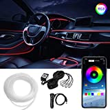 LEDCARE Car LED Strip Light, Multicolor RGB Car Interior Lights, 16 Million Colors 5 in 1 with 236 inches Fiber Optic, Ambient Lighting Kits, Sound Active Function and Wireless Bluetooth APP Control
