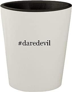 #daredevil - White Outer & Black Inner Hashtag Ceramic 1.5oz Shot Glass