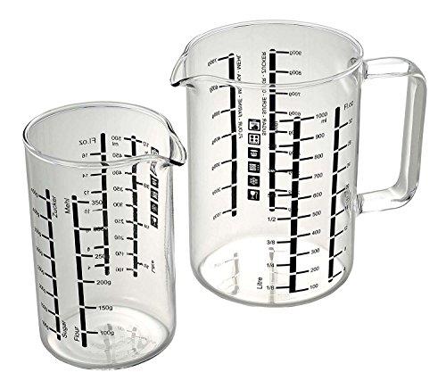 Bohemia Messbecher-Set 2-TLG, Glas, Transparent, 9.5 x 8.3 x 13.3 cm, 2-Einheiten