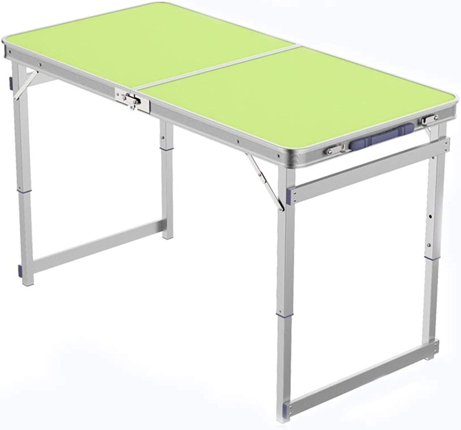 Aluminum Folding Table, Portable and Adjustable Height, Suitable for Camping Party Barbecue (3 colors) (color   Green)