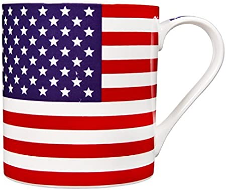 Home Essentials American Flag Coffee Mug Stoneware 17 Ounce Kitchen Dining Amazon Com
