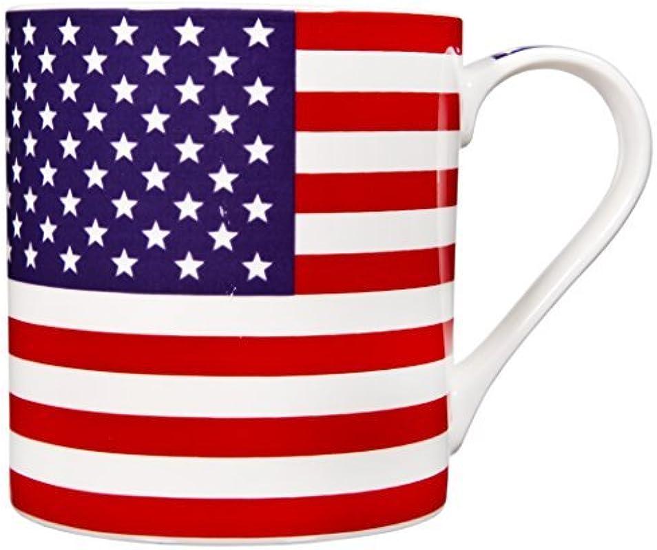 Home Essentials American Flag Coffee Mug Stoneware 17 Ounce