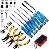 10 en 1 Kits de herramientas RC Destornilladores hexagonales Alicates Juego de herramientas...