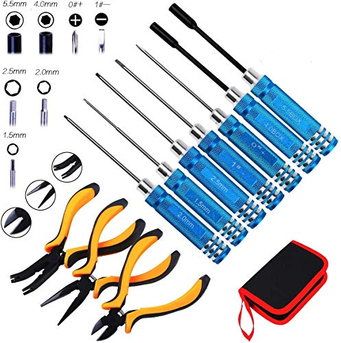10 in 1 RC Tools Kits Hex Screwdrivers Pliers Tool Set Wrench Repair for RC...