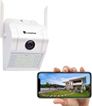 $39 » Luowice WiFi Floodlight Camera 1080p HD Outdoor Security Camera with Built-in Siren Alarm Two-Way Talk, Night Vision 160° View, IP66 Weatherproof, with Power Cable, Not Battery Powered