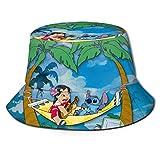 Bucket Hat Stitch Bucket Sun Hat para Hombres Mujeres -Protección Gorra de Pescador de Verano Empacable para Pesca, Safari, Paseos en Bote en la Playa Negro-Z1M